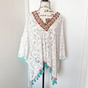 NWT Antica Sartotia Boho Lace Dress/Tunic/Coverup